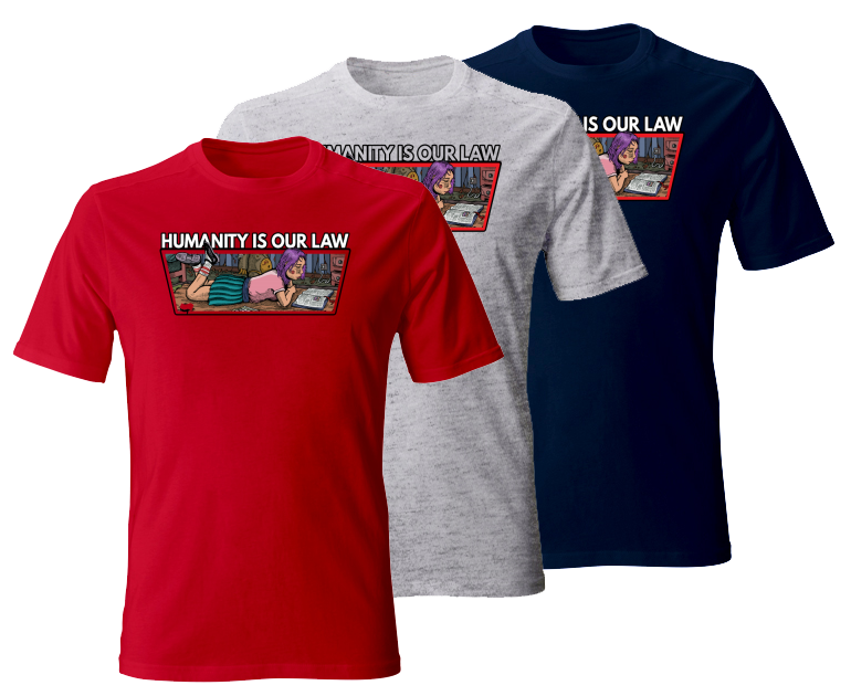 T-shirts for men - Humanity is our law