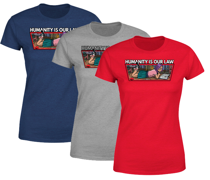T-shirts for women - Humanity is our law